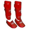 Защита для ног (голень+стопа) разбирающаяся PU ZLT красная - фото 1