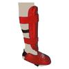 Защита для ног (голень+стопа) разбирающаяся PU ZLT красная - фото 2