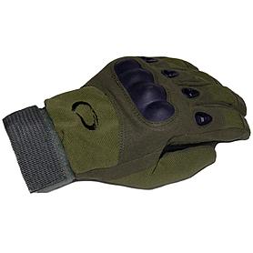Фото 4 к товару Перчатки тактические полнопалые Oakley 94025 зеленые