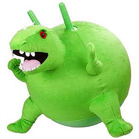 """Мяч для фитнеса (фитбол) с рожками 45 см """"Динозавр"""""""