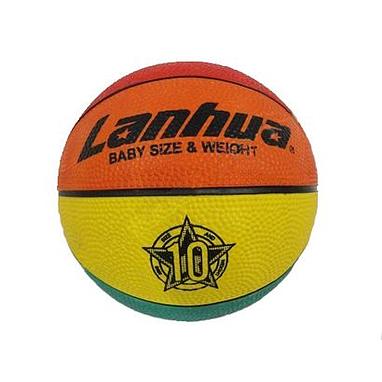 Мяч баскетбольный резиновый №1 Lanhua