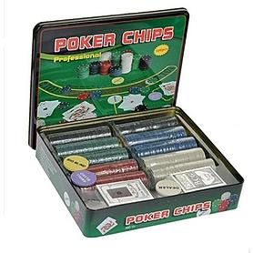 Набор игровой для покера IG-3006 500 фишек с номиналом