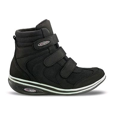 Ботинки на танкетке женские, черные WalkMaxx