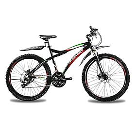 Фото 1 к товару Велосипед горный Premier Tsunami Disc 2.0 черный с красно-зеленым рама - 19
