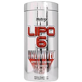 Фото 1 к товару Жиросжигатель Nutrex NR Lipo-6 Unlimited 120 liqui-caps