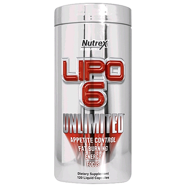 Жиросжигатель Nutrex NR Lipo-6 Unlimited 120 liqui-caps