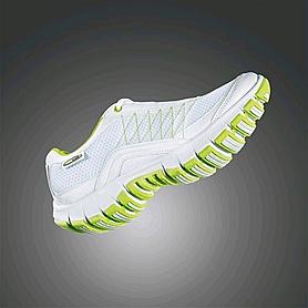 Фото 4 к товару Кроссовки ультралегкие бело-зеленые WalkMaxx