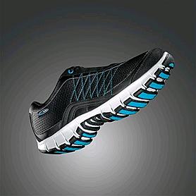 Кроссовки ультралегкие черно-голубые WalkMaxx