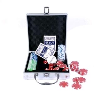 Набор для игры в покер в алюминиевом кейсе 100 фишек CG-11100