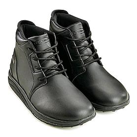 Фото 2 к товару Полусапожки мужские черные WalkMaxx