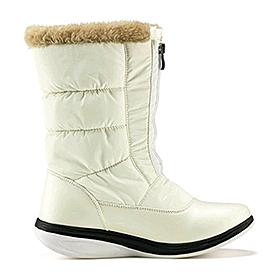 Фото 1 к товару Сапожки зимние на молнии, белые WalkMaxx
