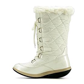 Фото 1 к товару Сапожки зимние на шнуровке, белые WalkMaxx