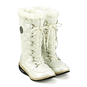 Фото 2 к товару Сапожки зимние на шнуровке, белые WalkMaxx