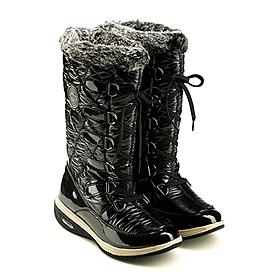 Фото 2 к товару Сапожки зимние на шнуровке, черные WalkMaxx