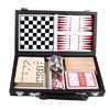 Набор игр 6 в 1: карты, шахматы, шашки, нарды, домино, кости - фото 1