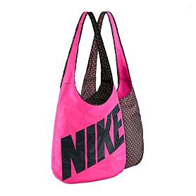 Фото 1 к товару Сумка женская Nike Graphic Reversible Tote малиновый с коричневым
