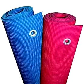Фото 6 к товару Коврик для йоги (йога-мат) с отверстиями TapiGym Sveltus 5 мм синий