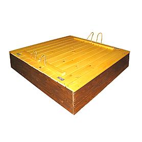 Фото 2 к товару Песочница деревянная цветная с крышкой
