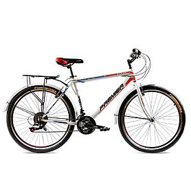 """Велосипед городской Premier Texas 26"""" белый с красным рама - 19"""""""