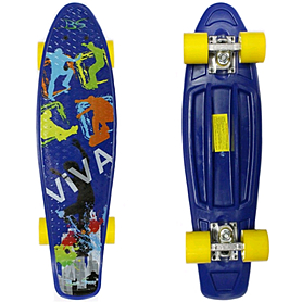 Фото 1 к товару Скейтборд Penny Viva Cruiser Fish Line синий
