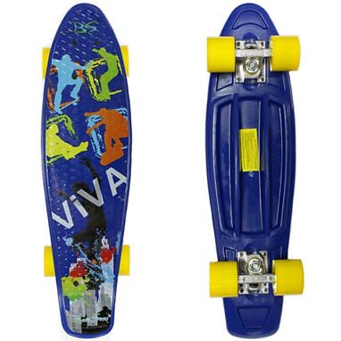 Скейтборд Penny Viva Cruiser Fish Line синий