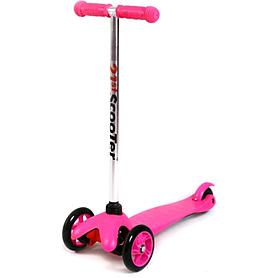Фото 1 к товару Самокат трехколесный c наклоном руля 21st Scooter M-28 розовый