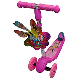Фото 1 к товару Самокат трехколесный с наклоном руля 21st Scooter Z-98 розовый