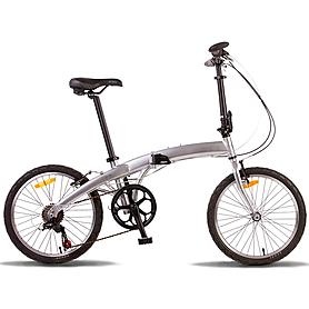 """Велосипед городской Pride Mini 6sp 20"""" серебристый (модель 2015 года)"""