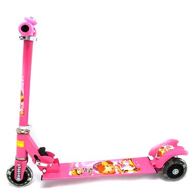 Самокат трехколесный Scooter F-010 розовый