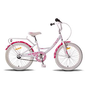 """Велосипед детский Pride Sandy 20"""" бело-розовый глянцевый 2015"""