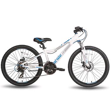 Велосипед подростковый горный Pride Pilot 24'' бело-синий матовый 2015