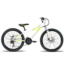 Велосипед подростковый Pride Pilot 24'' бело-зелёный глянцевый 2015