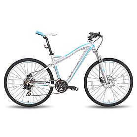 Фото 1 к товару Велосипед горный женский Pride Bianca серо-бирюзовый матовый 2015 Disc рама - 18