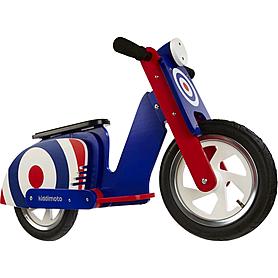 """Беговел детский Kiddi Moto Scooter 12"""" синяя мишень"""
