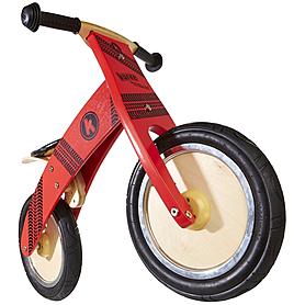 """Беговел детский Kiddi Moto Kurve 12"""" (карвэ) с рисунком протектора, красный"""