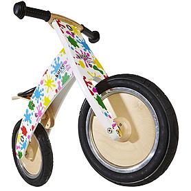 """Беговел детский Kiddi Moto Kurve 12"""" (карвэ) цветные кляксы"""