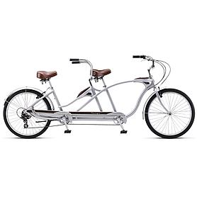 """Велосипед городской Schwinn Tango Tandem 26"""" 2014 серебристый"""