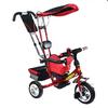 Велосипед детский трехколесный Baby Tilly Combi Trike BT-TC-509 (BT-CT-0010) Red - фото 1