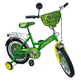 """Велосипед детский Baby Tilly Ниндзя черепашки 16"""" BT-CB-0013 зеленый"""