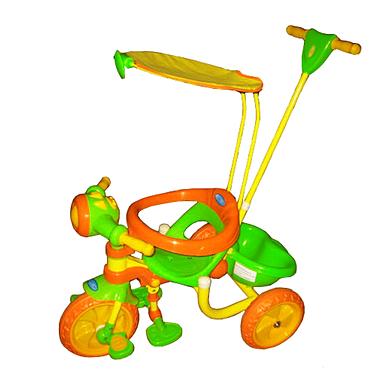 Велосипед детский трехколесный Baby Tilly 9029-3 крыша, ручка