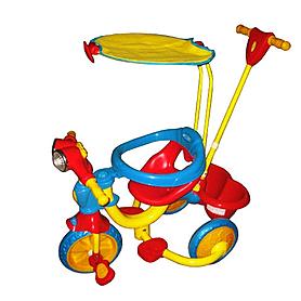 Велосипед детский трехколесный Baby Tilly 9033-1-3 крыша, ручка