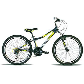 """Велосипед детский Pride Brave  24"""" 2015 черно-зеленый матовый"""