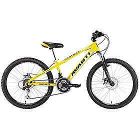 """Велосипед детский 24"""" Avanti Rider желтый"""