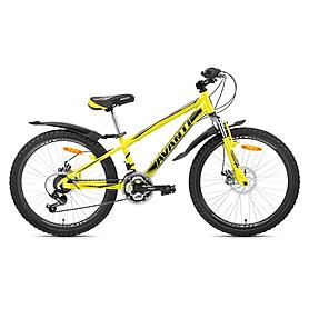 "Велосипед горный подростковый Avanti Dakar-24 Alu V-Brake 24"" 2015 желтый, рама - 12"""