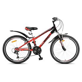 """Велосипед горный подростковый Avanti Dakar 24"""" Disk 2015 красно-черный рама - 13"""""""