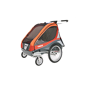 Фото 2 к товару Велоколяска детcкая Thule Chariot Captain2 + набор колес, оранжевая