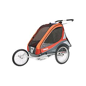 Фото 3 к товару Велоколяска детcкая Thule Chariot Captain2 + набор колес, оранжевая