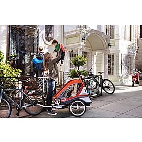 Фото 6 к товару Велоколяска детcкая Thule Chariot Captain2 + набор колес, оранжевая