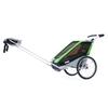 Велоколяска детская Thule Chariot Chetah1 + набор колес, зеленая - фото 1