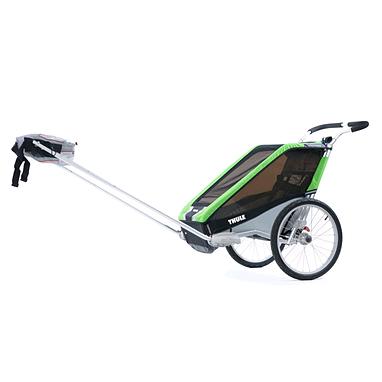 Велоколяска детская Thule Chariot Chetah1 + набор колес, зеленая